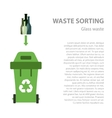 Glass waste sorting flat concept vector image