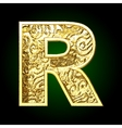 golden cutted figure r vector image