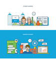 learning and modern education planning analysis vector image