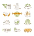 Natural Organic Labels and Icons vector image