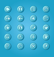 Set of mobile bright blue elements for UI Game vector image