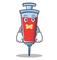 silent syringe character cartoon style vector image