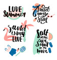 summer prints with hand lettering quotes ready vector image