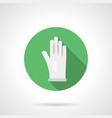 white glove flat round icon vector image