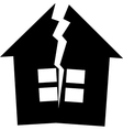 Broken house Vector Image
