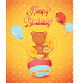 Birthday card monkey vector image