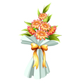 A boquet of fresh flowers vector image