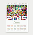 Calendar 2015 triangle geometry background vector image vector image