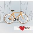 City bicycle vector image