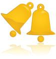 golden christmas bells vector image