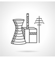 Thermal power plant line icon vector image