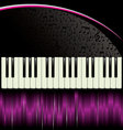 piano purple background vector image vector image