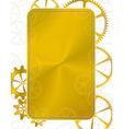 golden frame gear vector image vector image