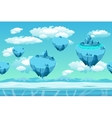 Ice and snow with the ice islands Seamless game vector image vector image