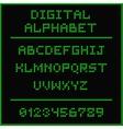 Green digital alphabet vector image