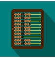 Abacus icon in flat style vector image