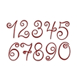 Curly numbers vector image