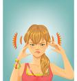 Headache vector image