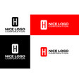 logo letter h vector image