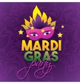 Mardi Gras Party Logo Poster Carnival type vector image