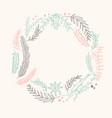 multicolored filigree ornament circle wreath vector image