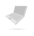 Notebook computer isolated on white backgrounds vector image