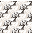 seamless pattern tree without leaves halloween vector image