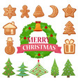 set of different christmas vector image