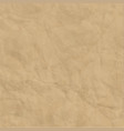 texture of brown craft crumpled paper background vector image