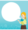 Woman Teacher Teaching With Speech Bubble vector image