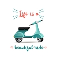 Summer time background with scooter vector image vector image