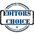 editors choice vector image