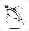 penguin 4 vector image vector image