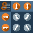 set of eight icons with arrows in all eight vector image