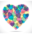 colorful heart make big heart vector image