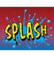 Comic book splash vector image