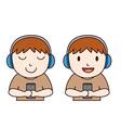 HeadPhone Boy vector image