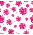 pink pompoms seamless pattern background vector image