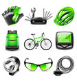 cycling icons set vector image vector image
