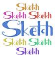 sketch hand drawn phrase freehand drawn modern vector image