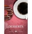 dessert menu in grunge vintage style vector image vector image