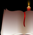 book and candle vector image vector image