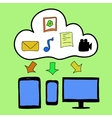 Doodle style cloud computing vector image