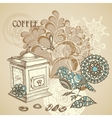 retro coffee background vector image vector image