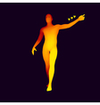 Man Pointing his Finger 3D Model of Man vector image vector image
