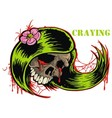 Crying skull Vector Image