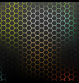 abstract pattern with colorful hexagons vector image