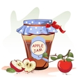 Apple jam jar vector image