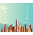 Copyspace on city and mountain background vector image