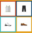 flat icon dress set of sneakers singlet pants vector image